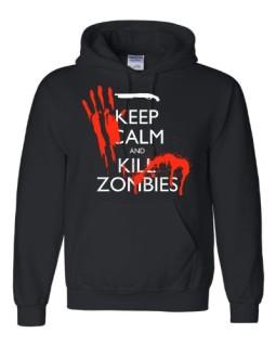 Adult-Keep-Calm-And-Kill-Zombies-Hooded-Sweatshirt-Hoodie-0