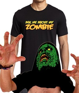 Ask-Me-About-My-Zombie-T-Shirt-Disguise-Funny-Flip-Up-shirt-XS-3XL-0