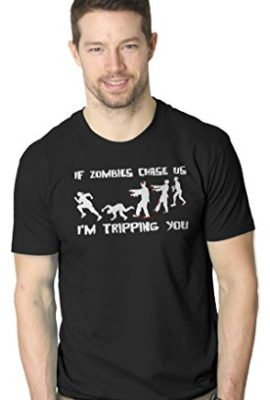 If-Zombies-Chase-Us-Im-Tripping-You-Funny-T-Shirt-0